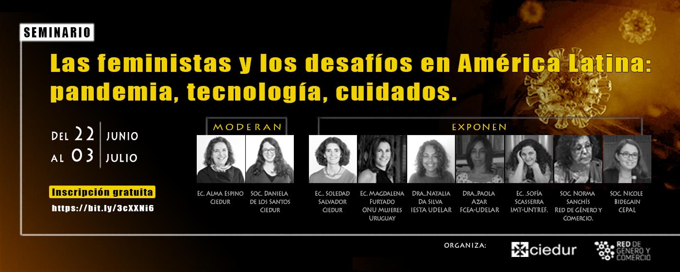 Seminario Virtual Feminista: pandemia, tecnología, cuidados