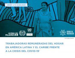 Trabajadoras remuneradas del hogar en América Latina y el Caribe frente a la crisis del COVID-19